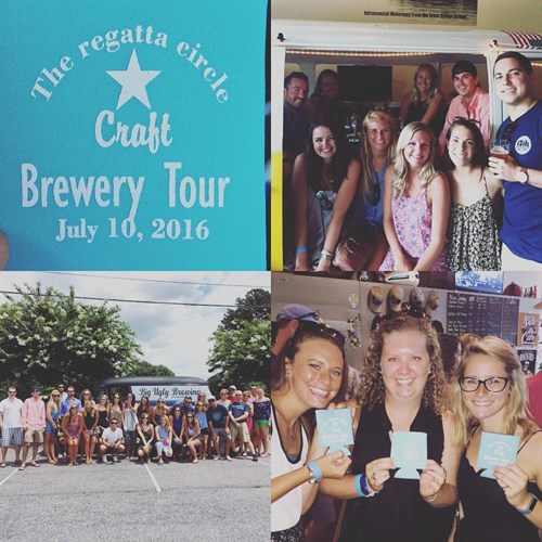Brewery tour collage