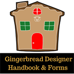 Gingerbread Button 2018 F