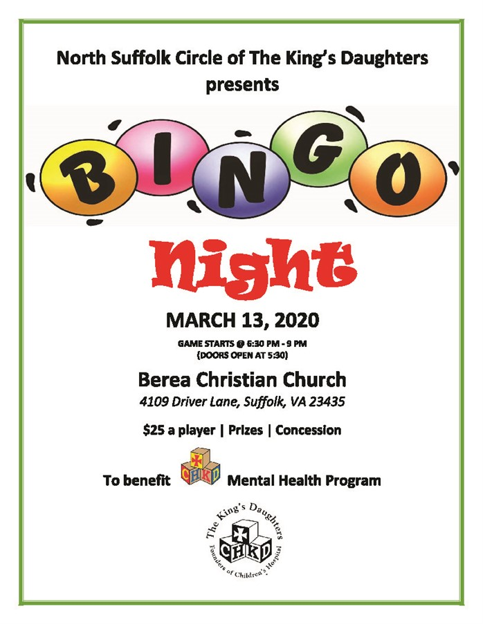 March Bingo Night