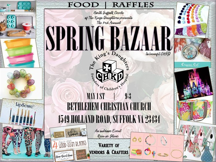 3rd Annual Spring Bazaar Flyer RESHEDULED